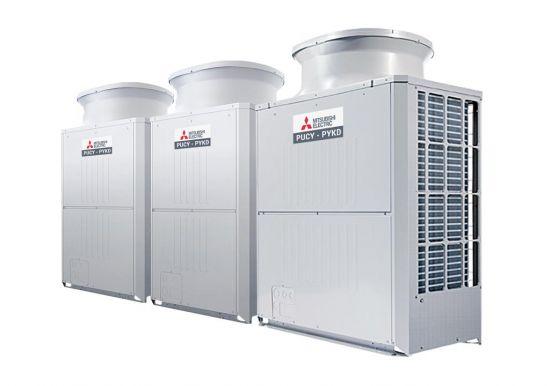 Tổ hợp dàn nóng giải nhiệt gió Mitsubishi Electric inverter (42.0Hp) PUCY-P1050YSKD (-BS) (PUCY-P300YKD.TH + PUCY-P300YKD.TH + PUCY-P450YKD.TH)