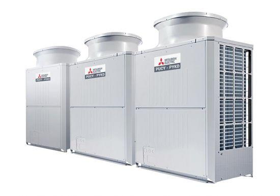 Tổ hợp dàn nóng giải nhiệt gió Mitsubishi Electric inverter (44.0Hp) PUCY-P1100YSKD (-BS) (PUCY-P300YKD.TH + PUCY-P350YKD.TH + PUCY-P450YKD.TH)