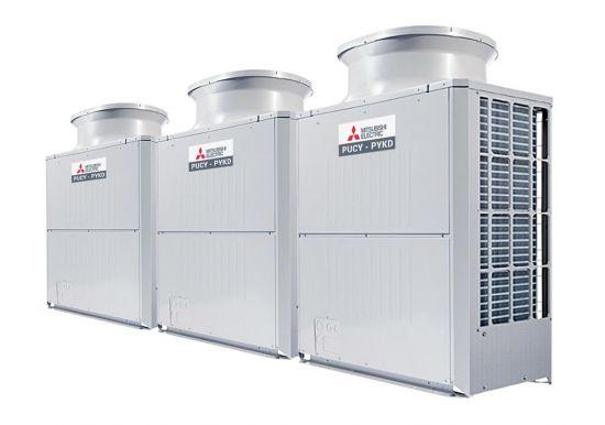 Tổ hợp dàn nóng giải nhiệt gió Mitsubishi Electric inverter (46.0Hp) PUCY-P1150YSKD (-BS) (PUCY-P350YKD.TH + PUCY-P400YKD.TH + PUCY-P400YKD.TH)
