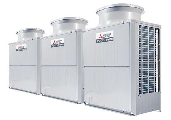 Tổ hợp dàn nóng giải nhiệt gió Mitsubishi Electric inverter (50.0Hp) PUCY-P1250YSKD (-BS) (PUCY-P400YKD.TH + PUCY-P400YKD.TH + PUCY-P450YKD.TH)