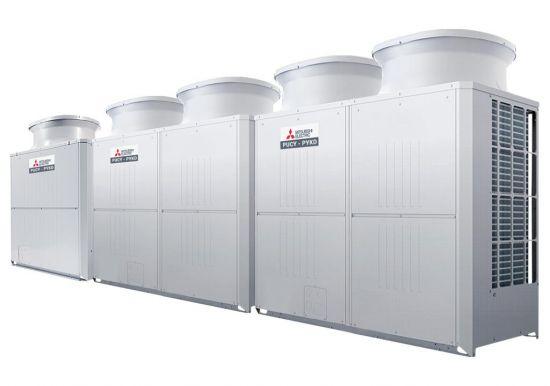 Tổ hợp dàn nóng giải nhiệt gió Mitsubishi Electric inverter (58.0Hp) PUCY-P1450YSKD (-BS) (PUCY-P450YKD.TH + PUCY-P500YKD.TH + PUCY-P500YKD.TH)